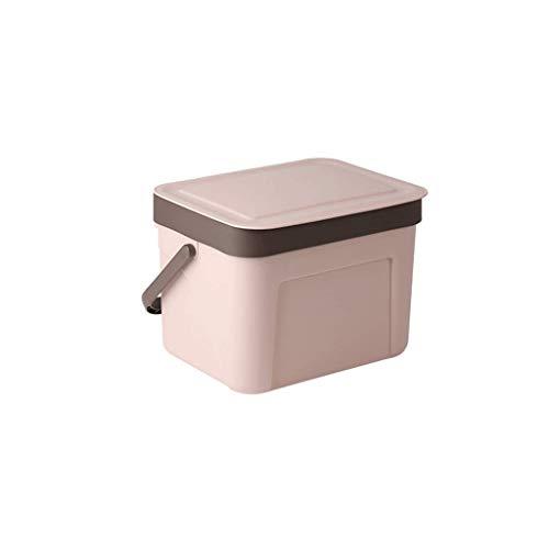 TJLMZ Dispensador de Basura for Cubos de Basura de plástico, Mini, Cuadrado, Mini con Tapa giratoria for encimera o tocador de tocador de baño - Deshágase de Rondas de algodón, esponjas de Maquillaje