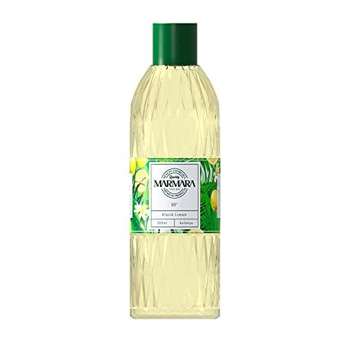 MARMARA Limon Kolonya 80° 300ml Splash PET Flasche | Eau de Cologne | After Shave | Rasierwasser | Zitronenduft | Kölnischwasser | Classik Lemon Duftwasser für Damen und Herren -