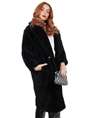 Deerhobbes Design your own Teddybär-Mantel, 100 % reine Wolle, Q007 Gr. One size, Schwarz M - UK 8/Eur36/Usa6