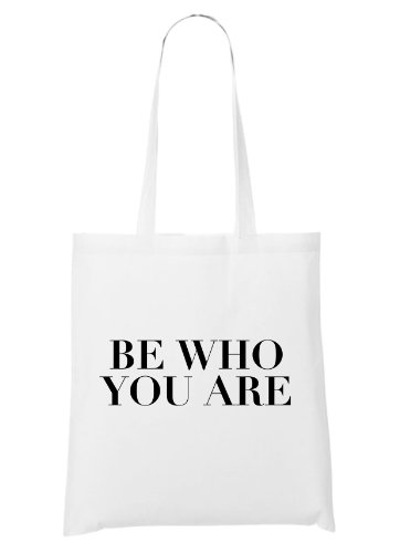 Be Who You Are Bolsa Blanco