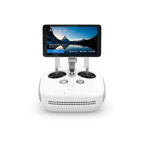DJI Drone Phantom 4 Pro + V2.0-Versión EU, Video 4K/60fps e Imágenes en modalidad Burst a 14 Fps, Control Remoto Integrado-Blanco, Color (CP.PT.00000232.01)
