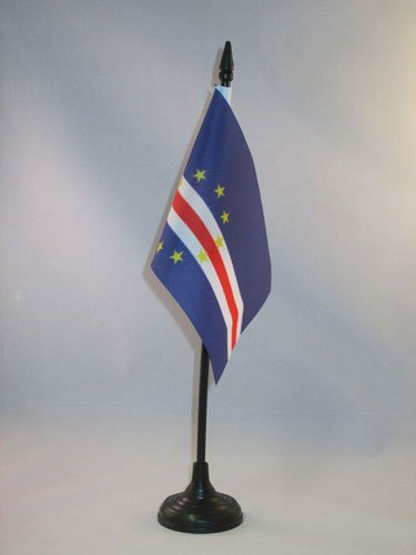 AZ FLAG Drapeau de Table Cap Vert 15x10cm - Petit Drapeaux DE Bureau Cap-verdien 10 x 15 cm