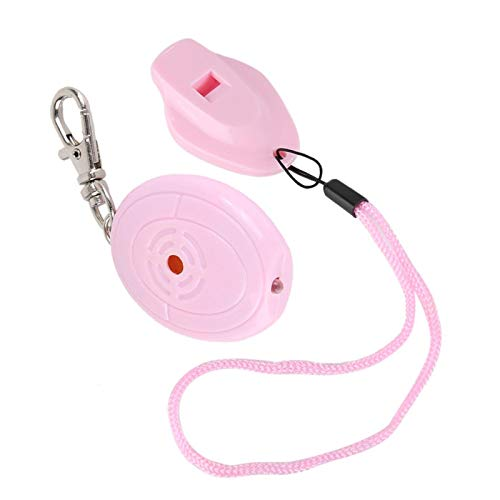 Buscador de llaves perdidas Buscador de llaves con silbato electrónico Localizador de llaveros Rastreador de llaves redondas Buscador de billetera(Pink)
