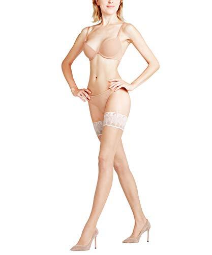 FALKE Damen Stay Ups Lunelle 8 Denier - Ultra-Transparente, 1 Paar, Beige (Powder/Champagne 999), Größe: M
