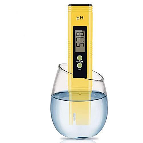 Roawon Medidor de pH con calibración automática, probador de calidad de agua tipo pluma de alta precisión, la mejor herramienta para probar el pH del tanque de peces, piscina, estanque, kombucha