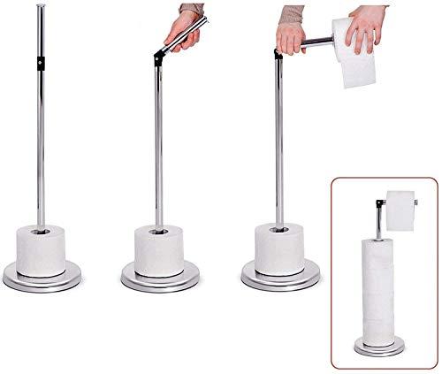 Free-Standing Toilet Roll Holder, Freestanding Toilet Paper Holder, Shiny...
