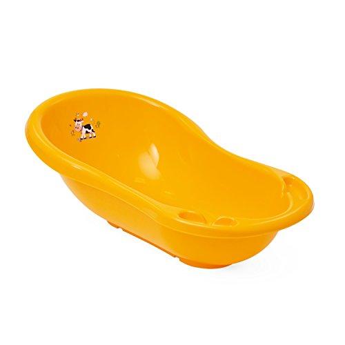 Babywanne Badewanne OKT Kids aprikosen gelb Seifenablage Kinderbadewanne Länge 84 cm