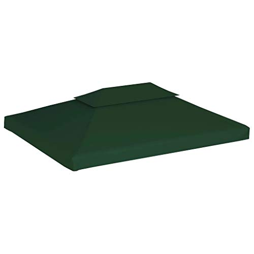 Cikonielf - Lona de repuesto para cenador de 3 x 4 m, cubierta superior para cenador impermeable de 310 g/m2 (no incluye el marco del cenador), color verde