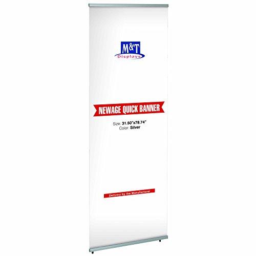 Dila GmbH Banner-Bildschirm 80 x 200 cm Quickbanner Werbebanner Aufsteller Banner Bildschirm Werbeständer