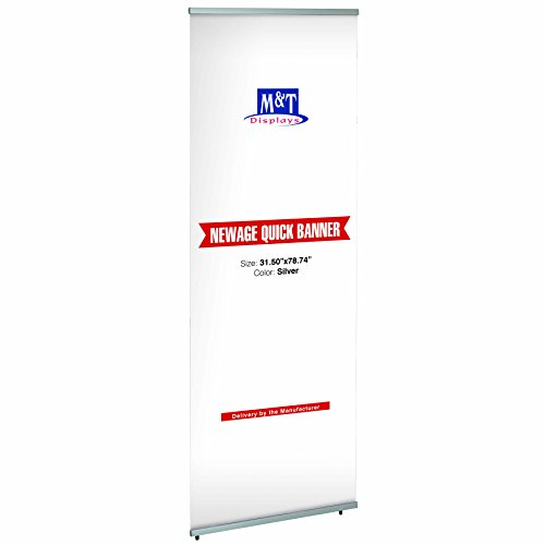 Dila GmbH Banner-Display 80 x 200 cm Quickbanner Werbebanner Aufsteller Banner Display Werbeständer