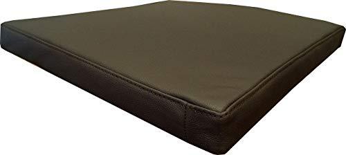 Quattro Meble Zitkussen van echt leer, donkerbruin, lederen kussen, zitkussen voor stoel, bank, dubbel genaaid, echt leer, kussen, zitting, oplegger, model 1el B-60 x T-50 cm Donkerbruin - Mdr Dark Brown