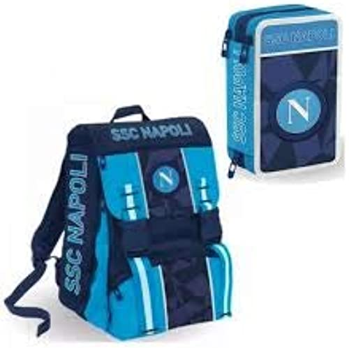 Ssc Napoli Napoli Sprint Set de Sacs Scolaires 41 Centimeters Bleu (Dresden bleu)