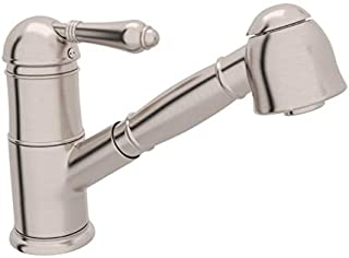 Rohl A3410LMSTN-2 Pull-Down FAUCETS, 0-in L x 2.8-in W x 7.8-in H, Satin Nickel
