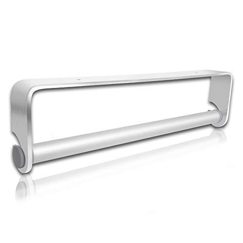 SUFA Küchenrollenhalter ohne Bohren,Küchenpapierhalter Wandmontage Papierrollenhalter Aufbewahrung Organisator - Silber