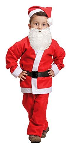 Das Kostümland Weihnachtsmann Nikolaus Kostüm für Kinder - Komplettset - 4-6 Jahre