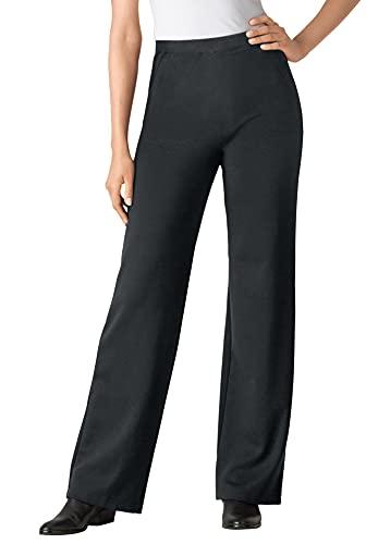 Woman Within Women's Plus Size Wide Leg Ponte Knit Pant - 16 W,...
