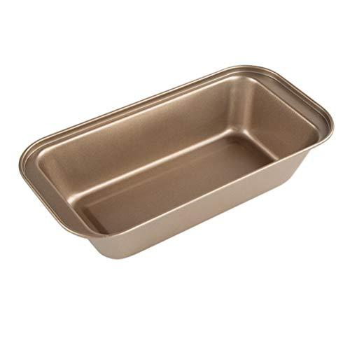 Cabilock 2 Piezas Rectangular para Tostadas para Pan Caja de Tostadas Antiadherente para Hornear Pan Molde para Pan Herramientas para Hornear Herramientas (Dorado)