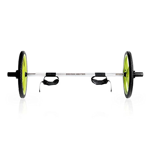 AXLE Barbell Lightweight, Fully Collapsible Olympic Barbell for Strength Training, Weightlifting and Olympic Lifting, (Loads and 2