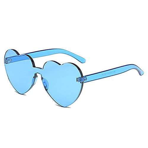 MU-PPX Gafas De Sol para Mujer Gafas De Sol De Una Pieza Sin Marco Gafas De Sol De Color Caramelo Espesar Gafas De Sol Polarizadas con Protección Uv400 Vintage Shades para Mujer
