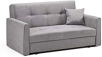 Honeypot - Sofa - Viva - Storage Sofa bed - 2 Seater - Grey Fabric (2 Seater)