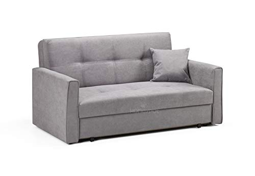 Honeypot - Sofa - Viva - Storage Sofa bed - 2 Seater - Grey Fabric (2 Seater)