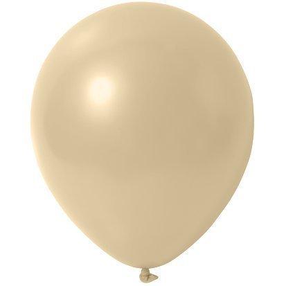 partydiscount24 Luftballons Creme - Metallic (Glänzend) - Ø 30 cm 50 Stück