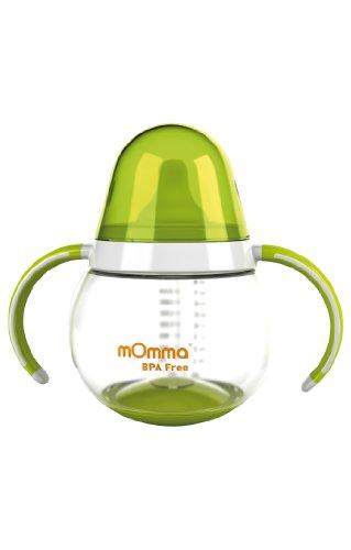 Lansinoh mOmma Trinkbecher (mit Doppelgriff), grün