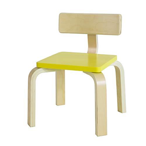 SoBuy Sediolina per bambini Sedia bambini legno massello di betulla, Misure del sedile: L26*P26*A26 cm KMB29-GR (Giallo)