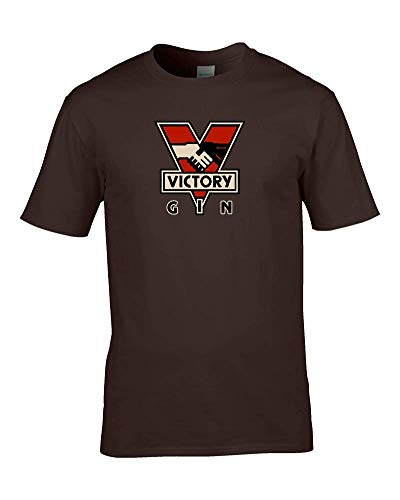 Victory Gin - Camiseta para hombre George Orwell 1984 Big Brother is Watching Advertisment