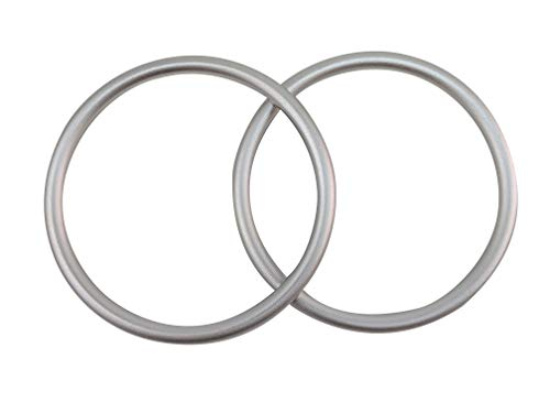 Sling Rings 3-inch Diameter by Cutie Carry. Infant Approved, mom Loved. Aluminum, lab Tested for Strength and Safety. Works with Your own Material or Convert wrap to Sling. (Silver)