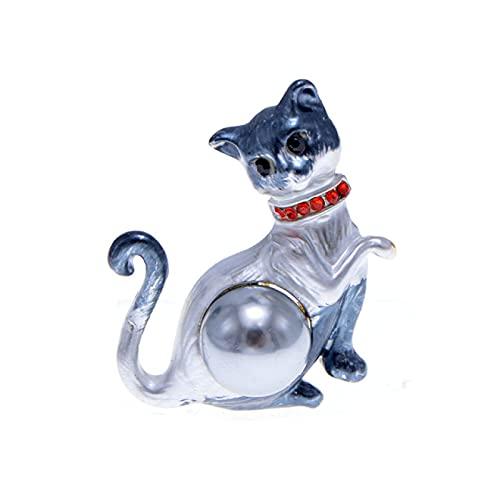 DFHTR Interesante Esmalte Colorido Gato Broches para Mujeres Animal Pin Joyería De Moda Linda Caricatura Gatito Joyería