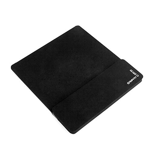 Grifiti Fat Mouse Wrist Pad 12 Jumbo Size Mouse Pad for Mice, Keypads, Numberpads, Trackpads, Trackballs, Adding Machines, Printing Calculators (Black Nylon)