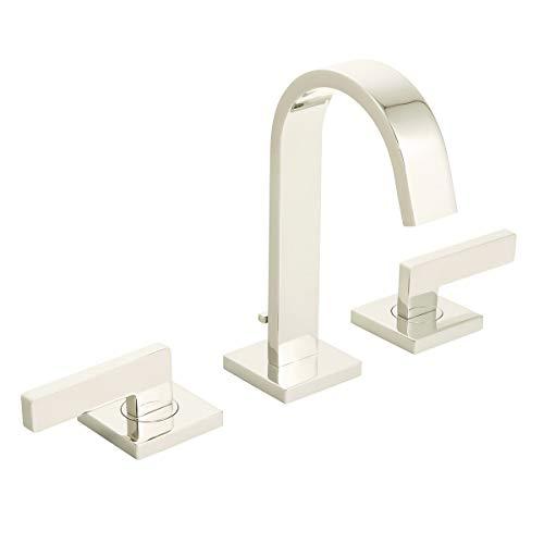 "Speakman SB-2522-PN Polished Nickel Lura 8"" Widespread Bathroom Faucet with Push-Pop Drain"