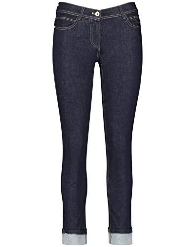 Taifun Damen 420018-19095 Straight Jeans, Blau (Blue Denim 85300), (Herstellergröße: 42)