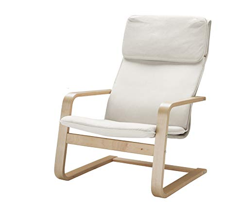 Vinylla Armchair Replacement Cover Compatible with IKEA Pello (Cotton - White)