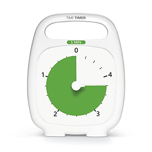 【正規品】TIME TIMER タイムタイマー 5分 プラス ハンドル付き TT05-W 時間管理
