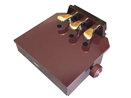 Wood Adjustable Piano Pedal Extender Bench in Mahogany Color with 3 Pedals