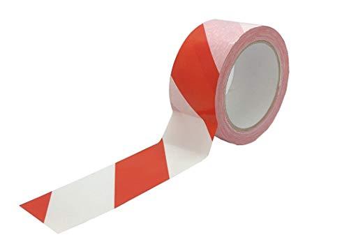 EMMEPACK - Nastro segnaletico adesivo PE - Bande Rosse/Bianco