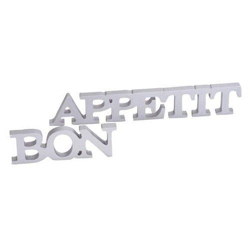 Lettres de Table Bon Appétit - Argent - Taille Unique