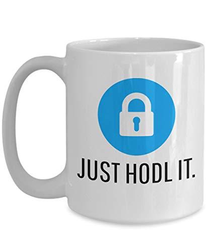 Officiell Chainlink Just HODL It Crypto Valuta Stor mugg Akryl Kaffehållare Svart 325 ml Kryptovaluta Miner LINKchain Invest Trade Köp Sälj Hold LIN