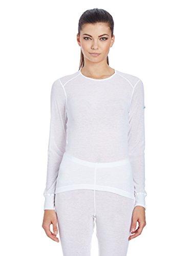 Odlo T-Shirt pour Femme L/S Crew Neck Light Shirt XXL Blanc