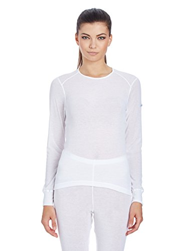 Odlo T-Shirt pour Femme L/S Crew Neck Light Shirt XXL Blanc