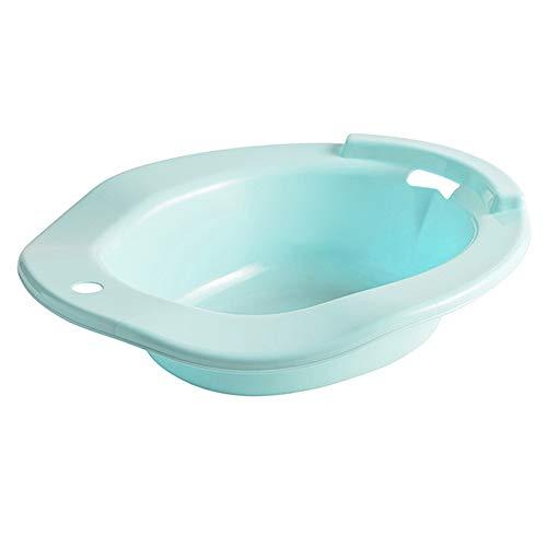 LQKYWNA Portátil Sitz Bath Basin Tub sobre el Inodoro Cubierta del Asiento del Inodoro para Mujeres Embarazadas Ancianos Cuidado Personal (Blue)