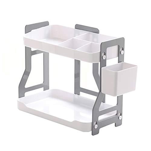 Estante para libros El estante de almacenamiento de escritorio de doble capa de la estantería de múltiples funciones simple es simple y compacto for el aprendizaje / uso en el hogar / oficina Estanter