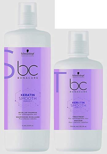 Schwarzkopf Schwarzkopf BC Keratin Smooth Shampoo 1000 ml + masker 750 ml