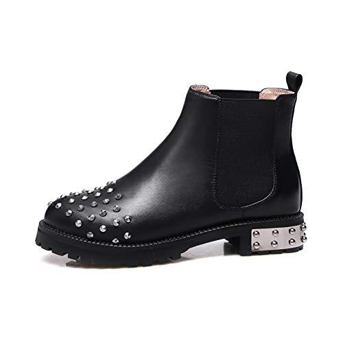 HQEFC Chelsea laarzen | Elastische enkellaarzen | Trek aan laarzen | Chelsea enkellaarzen vrouwen | Chelsea laarzen vrouwen | Lage hak enkellaarzen vrouwen | Stud enkellaarzen vrouwen