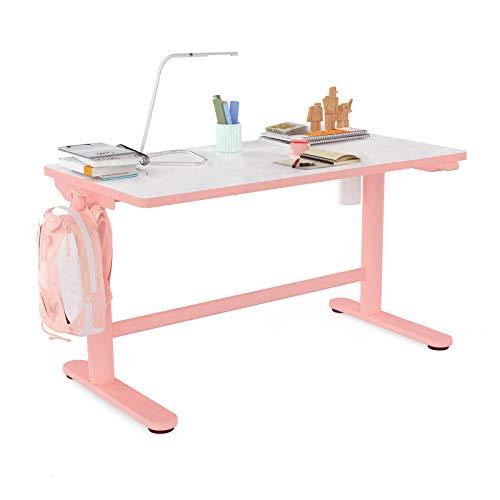 Flexispot Kids Table Standing Desk Adjustable Height Ergonomic Sit Stand Desk 40x 24 inch for Girl School Home Study Pink