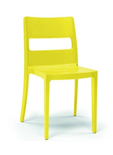 Scab Design – Lot 4 Chaises Sai Jaune