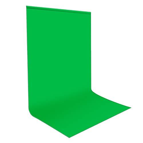 Neewer 10083667 Pro Fondo fotográfico 1,8 x 2.8M, Plegable Telón de Fondo de 100% Pura Muselina para Estudio fotográfico para Fotografía, Vídeo y Televisión, Verde, Incluye únicamente el Fondo