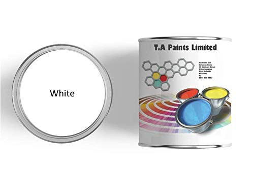 TA Paints Marine, Narrow Boat & Barge Paint | Multi Purpose fro Wood, Metal and Primed fibreglass | Above & Below Waterline (1 Litre, White)